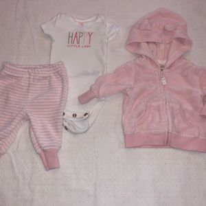 Other - Carter's Baby Girls NB Jogging Suit Set